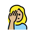 Woman Facepalming: Medium-Light Skin Tone on OpenMoji 13.0