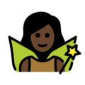 Woman Fairy: Dark Skin Tone on OpenMoji 13.0