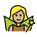 Woman Fairy: Medium-Light Skin Tone on OpenMoji 13.0