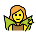 Woman Fairy on OpenMoji 13.0