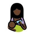 Woman Feeding Baby: Dark Skin Tone on OpenMoji 13.0