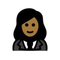 Woman in Tuxedo: Medium-Dark Skin Tone on OpenMoji 13.0