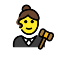 Woman Judge on OpenMoji 13.0