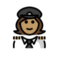 Woman Pilot: Medium Skin Tone on OpenMoji 13.0