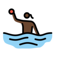 Woman Playing Water Polo: Dark Skin Tone on OpenMoji 13.0