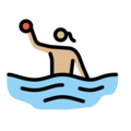 Woman Playing Water Polo: Medium-Light Skin Tone on OpenMoji 13.0