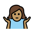 Woman Shrugging: Medium Skin Tone on OpenMoji 13.0