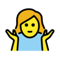Woman Shrugging on OpenMoji 13.0