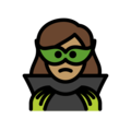 Woman Supervillain: Medium Skin Tone on OpenMoji 13.0