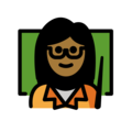 Woman Teacher: Medium-Dark Skin Tone on OpenMoji 13.0