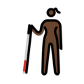 Woman with White Cane: Dark Skin Tone on OpenMoji 13.0