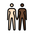 Women Holding Hands: Light Skin Tone, Dark Skin Tone on OpenMoji 13.0