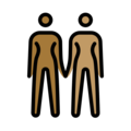 Women Holding Hands: Medium-Dark Skin Tone, Medium Skin Tone on OpenMoji 13.0