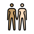 Women Holding Hands: Medium Skin Tone, Light Skin Tone on OpenMoji 13.0