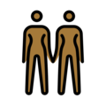 Women Holding Hands: Medium-Dark Skin Tone on OpenMoji 13.0