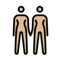 Women Holding Hands: Medium-Light Skin Tone on OpenMoji 13.0