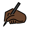 Writing Hand: Dark Skin Tone on OpenMoji 13.0