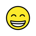 Beaming Face with Smiling Eyes on OpenMoji 13.1