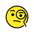 Face with Monocle on OpenMoji 13.1