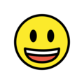 Grinning Face with Big Eyes on OpenMoji 13.1