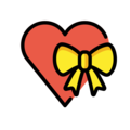 Heart with Ribbon on OpenMoji 13.1