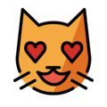Smiling Cat with Heart-Eyes on OpenMoji 13.1