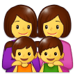 Family: Woman, Woman, Girl, Boy on Samsung Experience 9.5