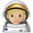 Man Astronaut: Medium-Light Skin Tone on Samsung Experience 9.5