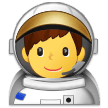 Man Astronaut on Samsung Experience 9.5
