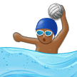 Person Playing Water Polo: Medium-Dark Skin Tone on Samsung Experience 9.5