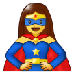 Woman Superhero on Samsung Experience 9.5