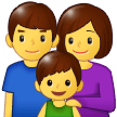 Family: Man, Woman, Boy on Samsung One UI 1.0