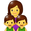 Family: Woman, Boy, Boy on Samsung One UI 1.0