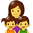 Family: Woman, Girl, Boy on Samsung One UI 1.0