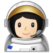 Woman Astronaut: Light Skin Tone on Samsung One UI 1.0
