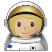 Woman Astronaut: Medium-Light Skin Tone on Samsung One UI 1.0