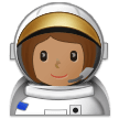 Woman Astronaut: Medium Skin Tone on Samsung One UI 1.0