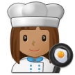 Woman Cook: Medium Skin Tone on Samsung One UI 1.0