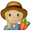 Woman Farmer: Medium-Light Skin Tone on Samsung One UI 1.0