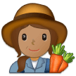 Woman Farmer: Medium Skin Tone on Samsung One UI 1.0