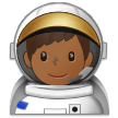 Man Astronaut: Medium-Dark Skin Tone on Samsung One UI 1.0