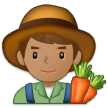 Man Farmer: Medium Skin Tone on Samsung One UI 1.0