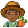 Man Farmer: Medium-Dark Skin Tone on Samsung One UI 1.0