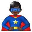 Man Superhero: Dark Skin Tone on Samsung One UI 1.0