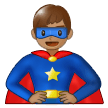 Man Superhero: Medium Skin Tone on Samsung One UI 1.0