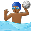 Person Playing Water Polo: Medium-Dark Skin Tone on Samsung One UI 1.0