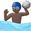 Person Playing Water Polo: Dark Skin Tone on Samsung One UI 1.0