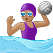 Woman Playing Water Polo: Medium Skin Tone on Samsung One UI 1.0