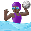 Woman Playing Water Polo: Dark Skin Tone on Samsung One UI 1.0