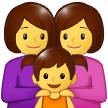 Family: Woman, Woman, Girl on Samsung One UI 1.5